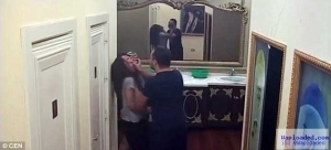 Photos: Husband beats wife up live on reality TV show in Serbia